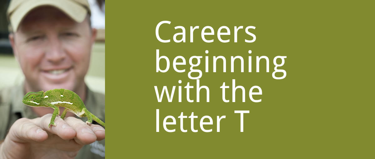 Careers beginning with the letter T Image source and credit: NJ MORE Field Guide College
