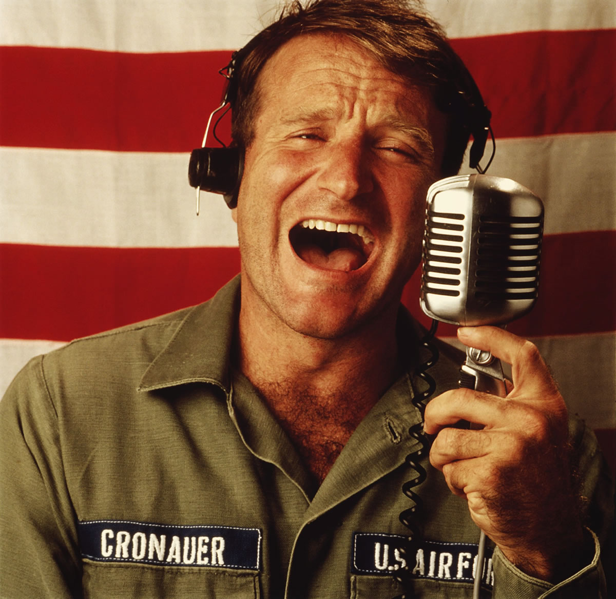 Robin Williams in Good Morning, Vietnam © Touchstone Pictures**