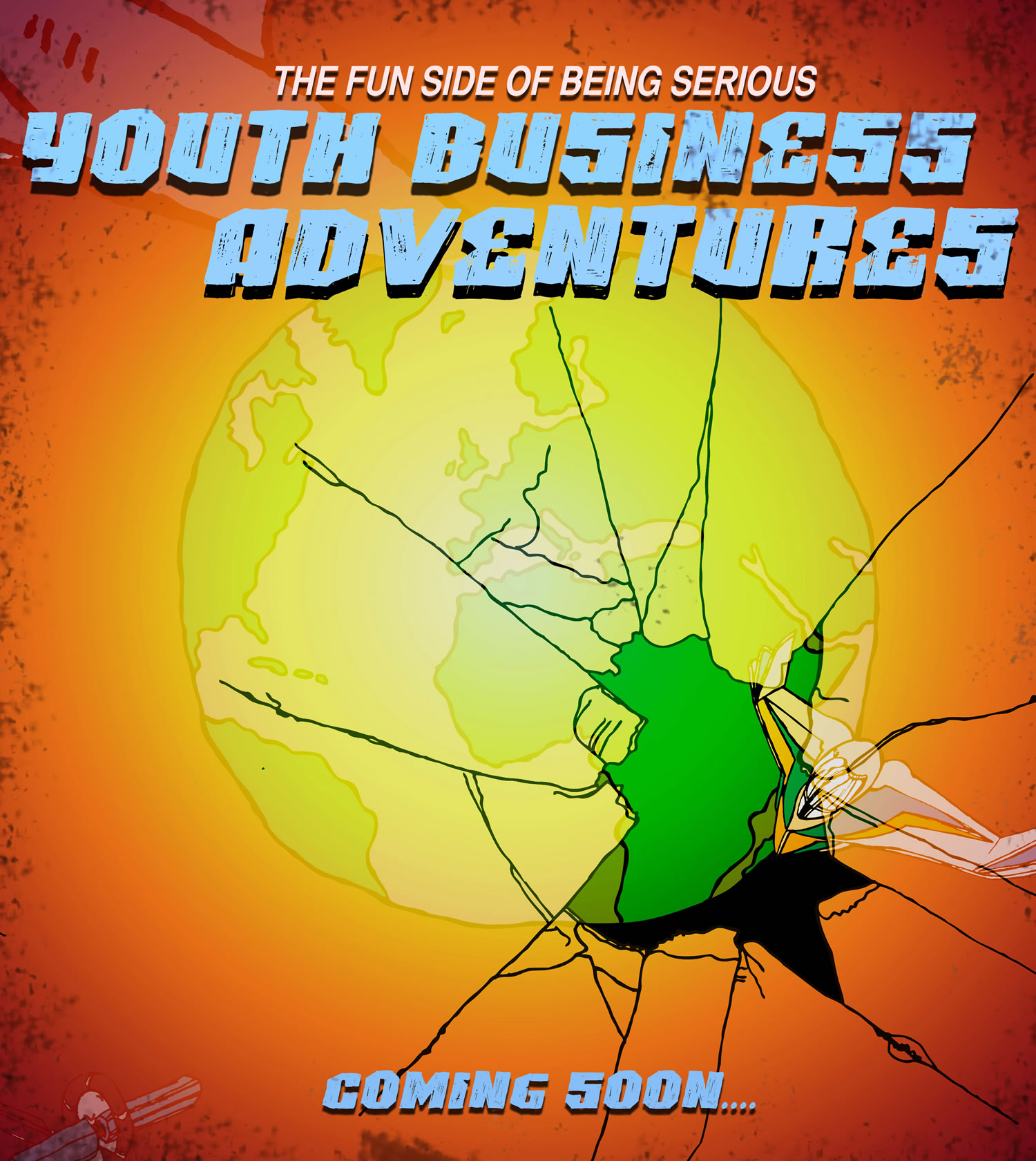 Coming Soon Youth Business Adventures teaser poster from the Fun Side of Being Serious book series
