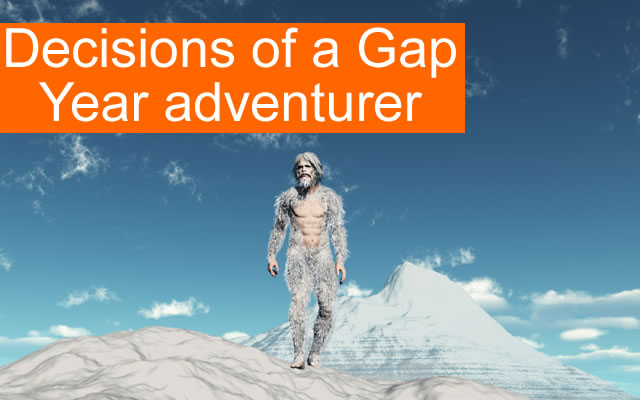 The Gap Year Decision* Image source: istockphoto.com Copyright: estt
