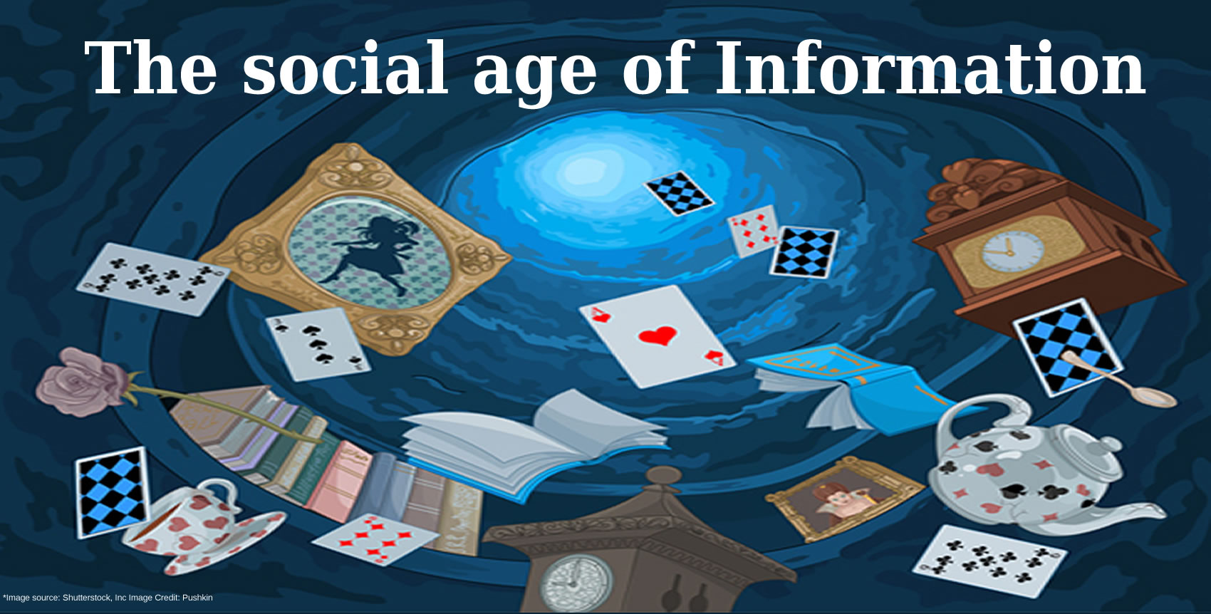 The social age of Information - it is beginning to resemble a formula from a Lewis Carroll novel! *Image source: Shutterstock, Inc Image Credit: Pushkin