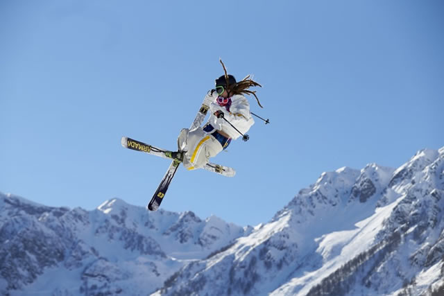 Freestyle Skiing: 2014 Winter Olympics: Sweden Henrik Harlaut (25) in action during Men's Ski Slopestyle Qualification at Rosa Khutor Extreme Park. Krasnaya Polyana, Russia 2/13/2014 CREDIT: Simon Bruty (Photo by Simon Bruty /Sports Illustrated/Getty Images)