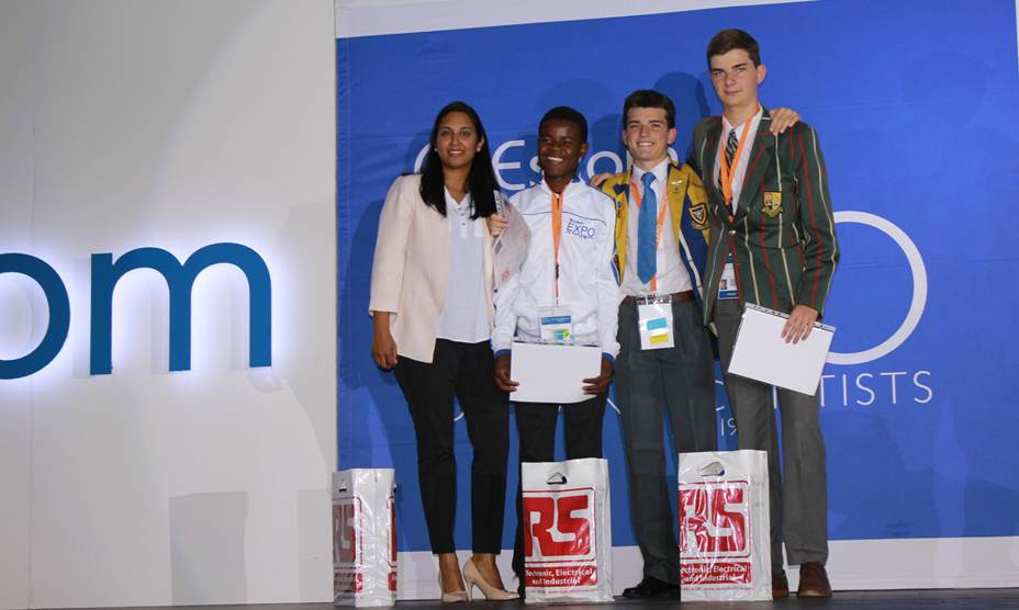 Mellisa Govender (RS Components); Winners - James Manelisi Silinda, Christopher Colin Baumgart, Matthieu Louis Arthur