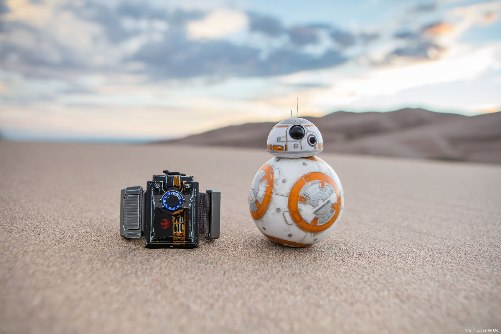 Bringing home the 'NOW' generation of Robotics -Sphero's BB-8 and Force Band - image courtesy Sphero © & ™ Lucasfilm Ltd.