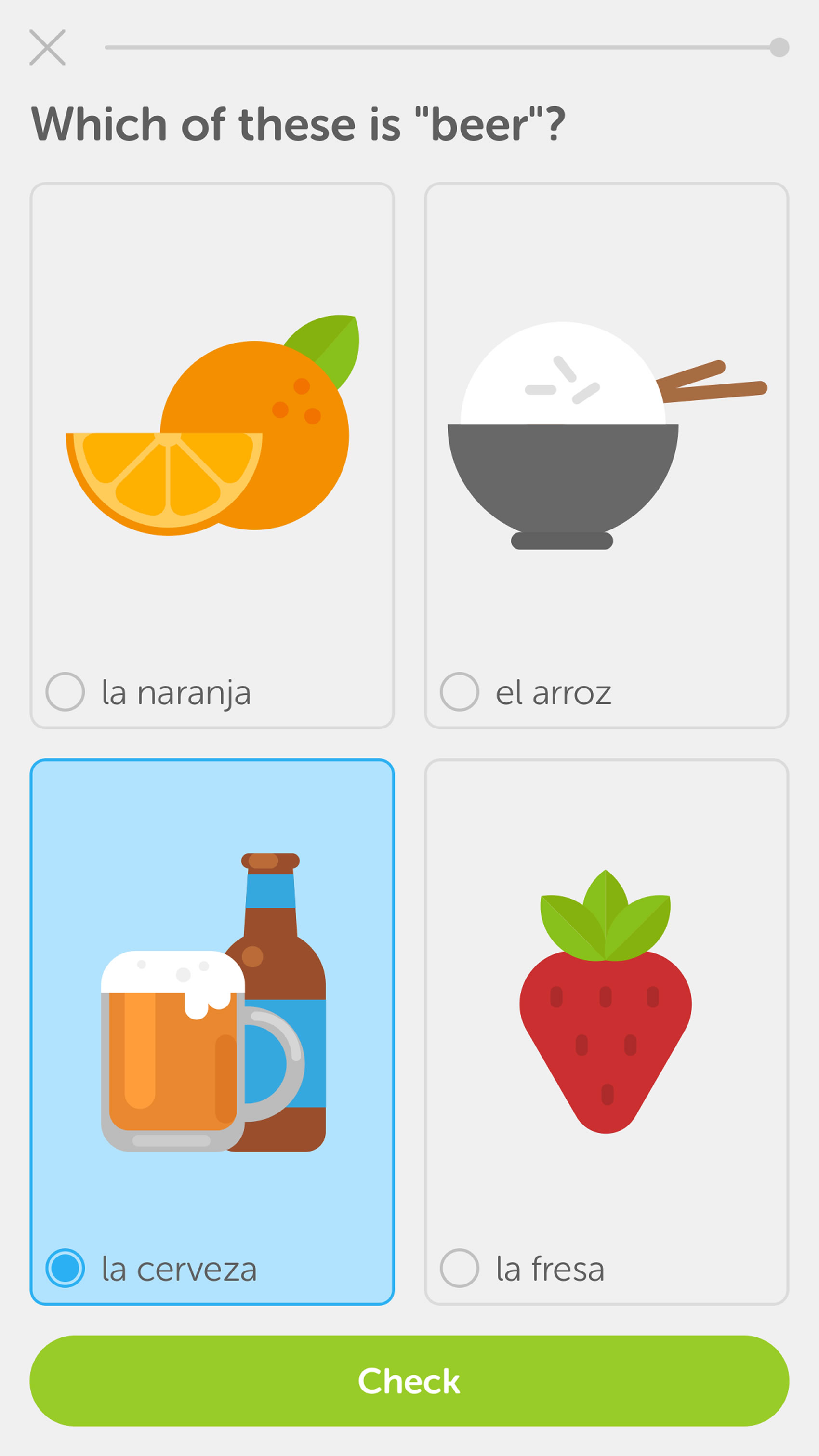 Glimpse of the Duolingo app - Duolingo  and the global language mix